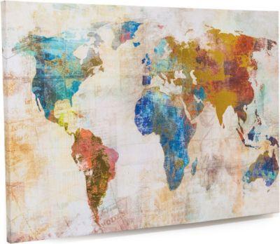Leinwandbild Weltkarte, 100 x 70 cm Jetzt bestellen unter: https://moebel.ladendirekt.de/dekoration/bilder-und-rahmen/bilder/?uid=10155572-b96d-53ab-83d1-f03b3484f2bb&utm_source=pinterest&utm_medium=pin&utm_campaign=boards #heim #bilder #rahmen #dekoration