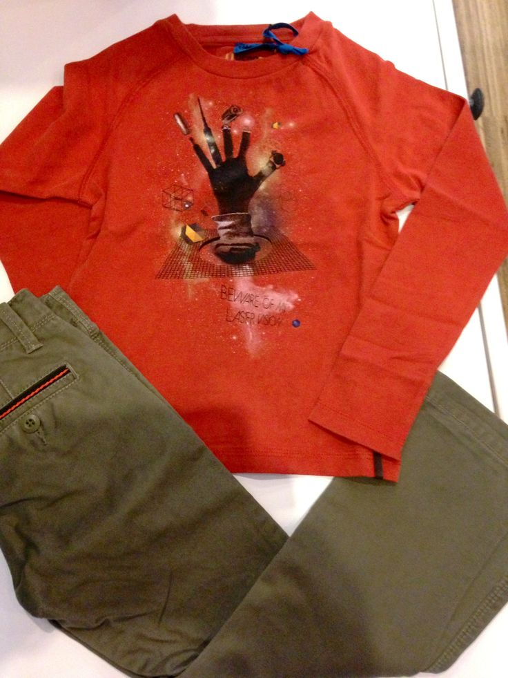 Inspiratie CKS jongenscombi met legergroene broek