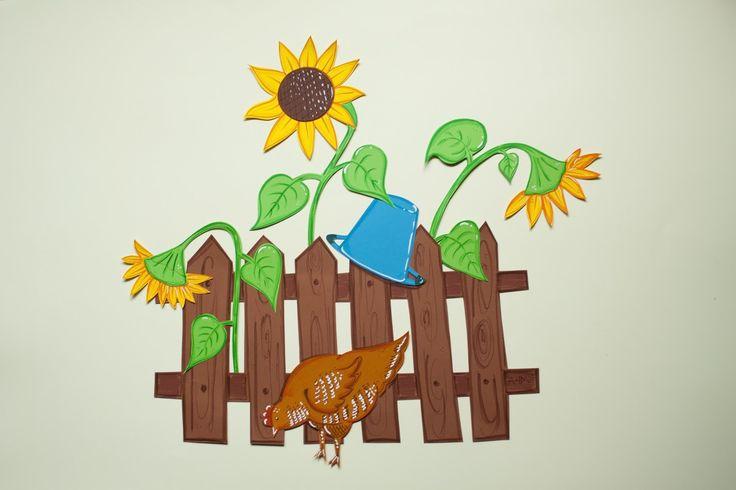 Sunflower, słonecznik, kura, chicken, summer, lato, wakacje