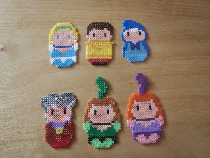 Cinderella characters hama beads by nanafieltro