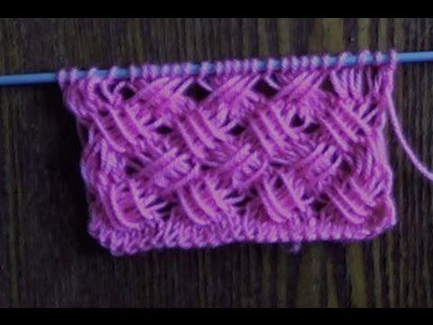 Вязание спицами узоров с вытянутыми петлями  Плетенка с вытянутыми петлями. Link…