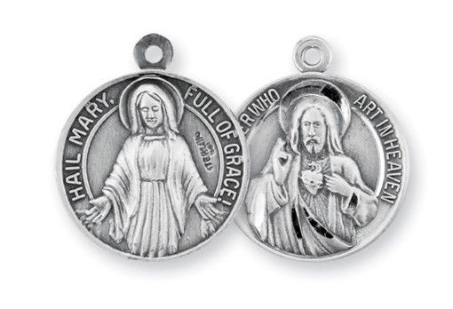 Our Father/Hail Mary Sterling Medal