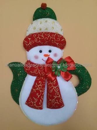 Resultado de imagen para creaciones navideñas en paño lency