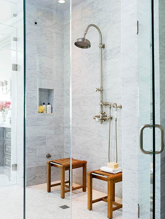 15 Stylish Seats For Walk In Showers Teak And Stools