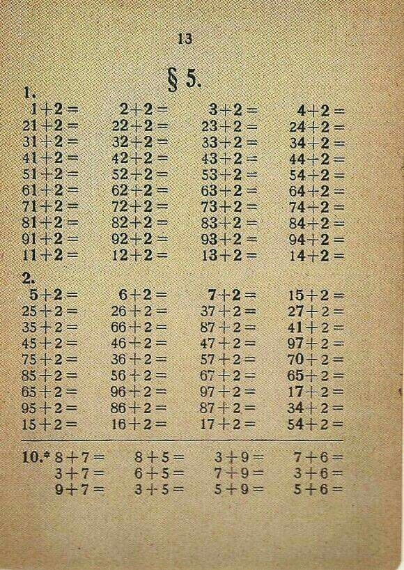 Rekenles - I remember these sheets with relatively easy math lessons in elementary school...