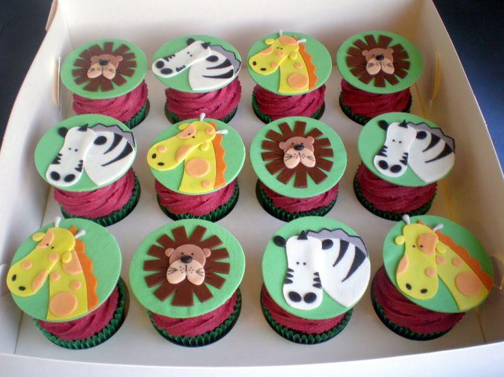 Sugar Siren Cakes Mackay: Jungle Safari Animal Cupcake Tower