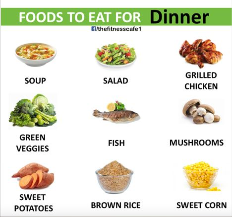 Foods to eat for Dinner