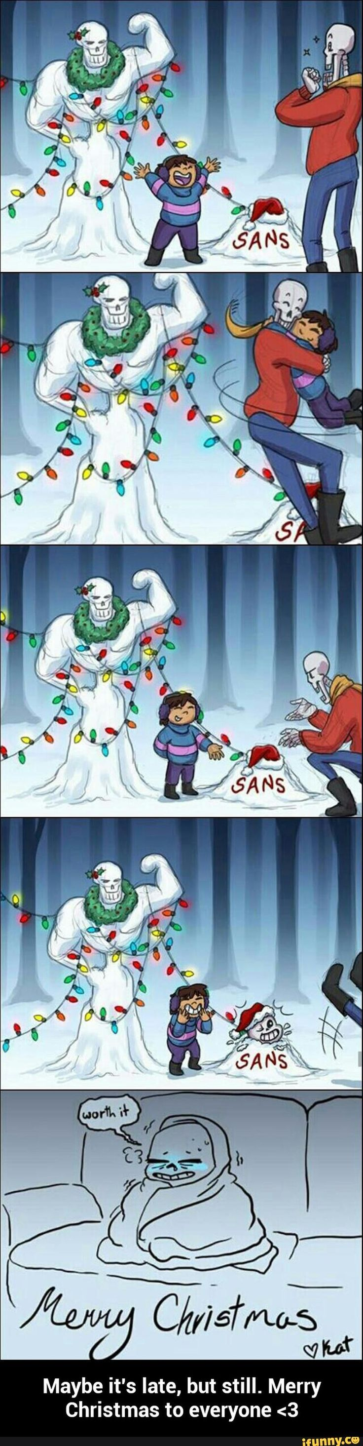Maybe it's late, but still. Merry Christmas to everyone <3
