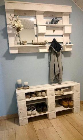 15 Creative DIY Reclaimed Wood Pallet Shoe Rack   Recycled Pallet Ideas