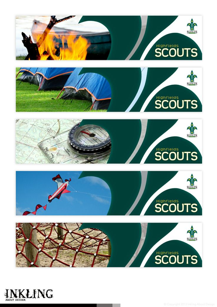 animated gif web banner for HIGHFIELDS SCOUTS by Inkling About Design www.inklingaboutdesign.com  #graphicdesign #inkling #webbanner #animatedgif #branding #Toowoomba #Queensland #Highfields #scouts