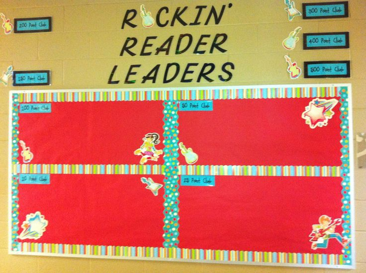 Leader In Me - Accelerated Reader Incentive Bulletin Board - Rockin' Reader Leaders