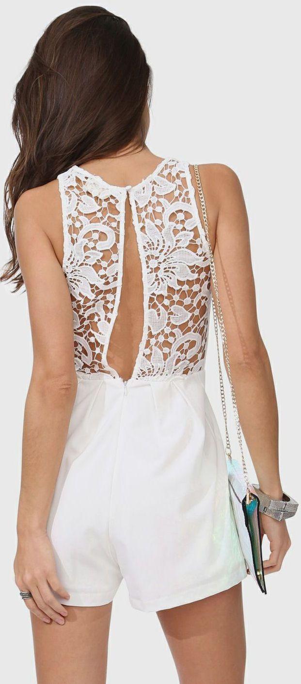 White Lace Romper <3
