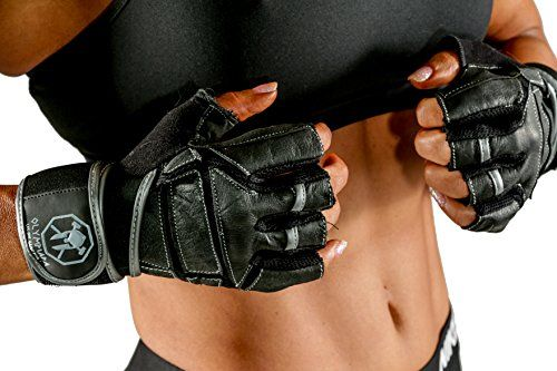 Weight Lifting Gloves with Wrist Wrap Support - For Gym, Workout, Crossfit, Fitness, Weightlifting, Bodybuilding, Cross Training - Stylish for Men & Women - Olympiada - Highest Quality Leather Gloves - Lifetime Warranty