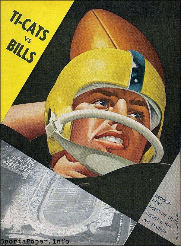 CFL Game Program: Hamilton Tiger-Cats vs. Buffalo Bills (August 8, 1961)