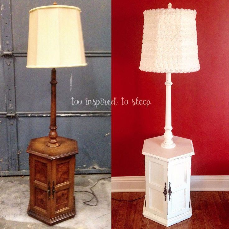 Revival Of A 80s Floor Lamp End Table Glasslamps Floor Lamp Makeover Floor Lamp Floor Lamp Bedroom