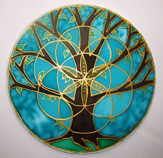 Tree of Life Mandala mandala art tree of by HeavenOnEarthSilks, $32.00  Scared Geometry with the seed of life.