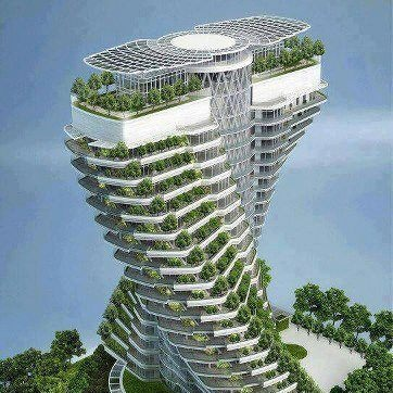 twisted tesselating green house building design by vincent callebaut architectures for agora tower in taipei taiwan 2016 - Cool Architecture Design