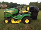2008 JOHN DEERE X300 LAWN GARDEN TRACTOR WITH BAGGER AND PLOW ACCESSORIES