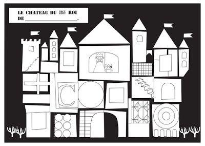 maternelle, coloriage, le tout petit roi, chateau, PS, MS, GS