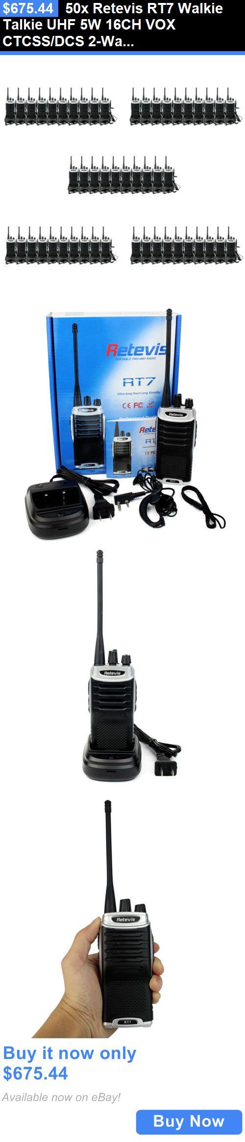 Radio Communication: 50X Retevis Rt7 Walkie Talkie Uhf 5W 16Ch Vox Ctcss/Dcs 2-Way Fm Radio Us Local BUY IT NOW ONLY: $675.44