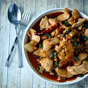 Thai Chicken with Cashews - The Wanderlust Kitchen