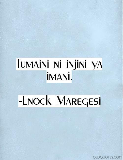 Tumaini ni injini ya imani. Royalty-free image quotes and sayings.