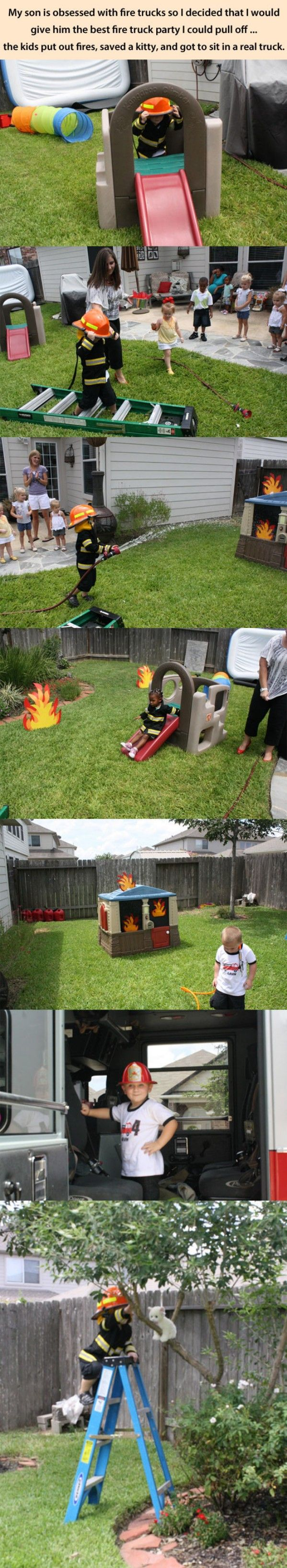 Fireman Birthday Party funny picture-What a unique party idea!