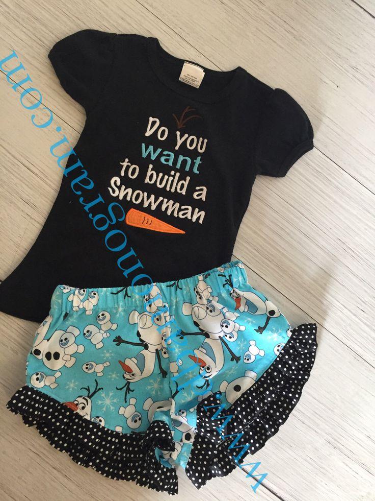 Custom Frozen Birthday Outfit, Olaf Birthday Outfit, Frozen Birthday, Olaf Shorties by DesignsbyApril1234 on Etsy https://www.etsy.com/listing/387476412/custom-frozen-birthday-outfit-olaf