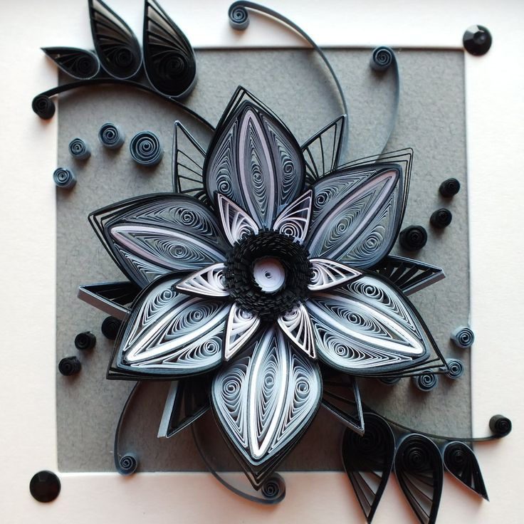 Flower loneliness by othewhitewizard on deviantart i love black and white quilling