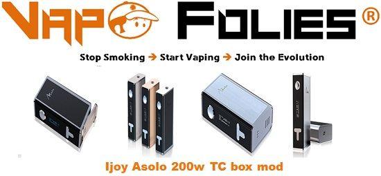 #Box #Asolo 200 watts #Ijoy avec #contrôle de #température – 134.99€