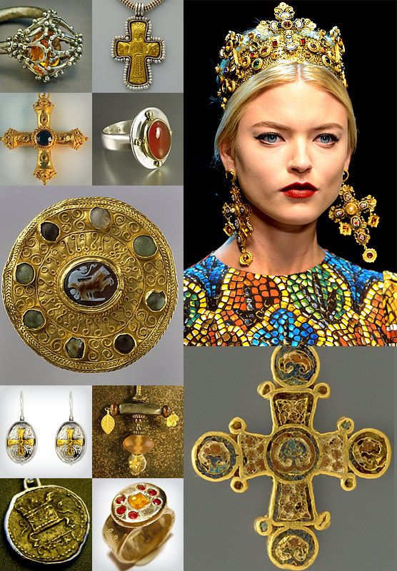 oday we re visiting the golden extravagance of the Byzantine Empire and  combining jewelry from the period with contemporary inter… 772bc26434
