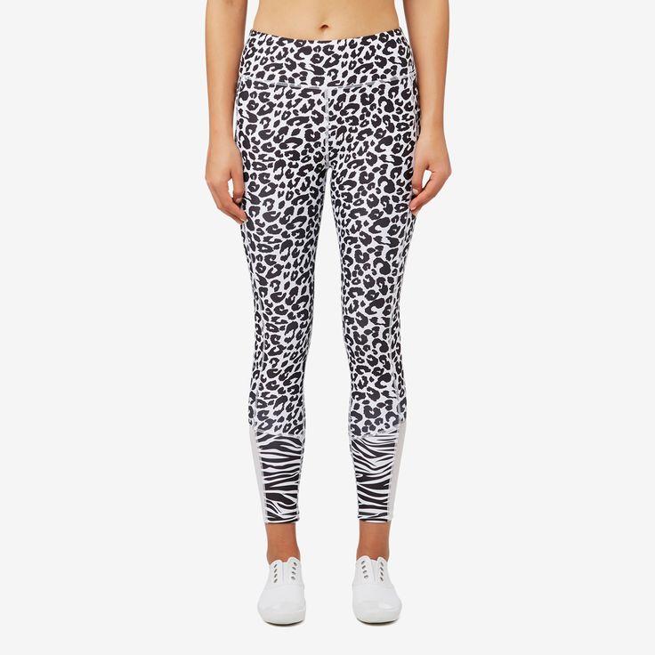 Shop now: Zebra Splice Legging. #seedheritage #seedsport #sport #woman