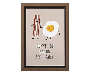 Gravura Digital Bacon My Heart - 25x35cm