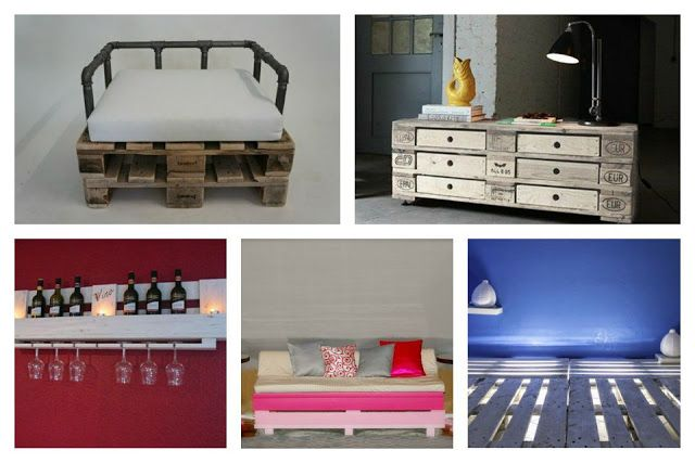 Euro pallets - Inspiration for interior design