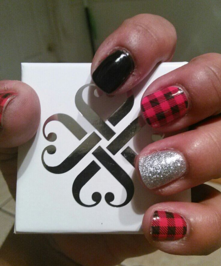 Friday Flannel, black onyx gel polish and birthday bash gel polish!! Jamsation.jamberry.com