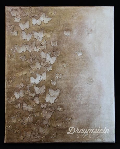 LOVE this butterfly canvas from Dreamsicle sisters