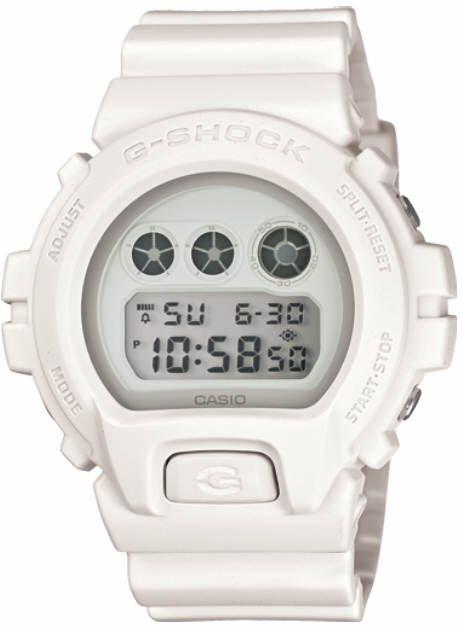 Casio G-Shock  White Digital Classic Watch DW6900WW-7
