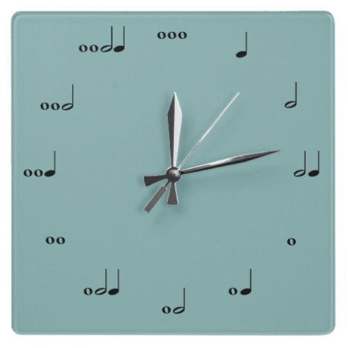 Music Note Wall Clock from Zazzle.com