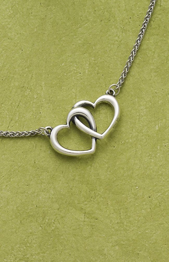 Double Heart Linked Necklace from James Avery Jewelry