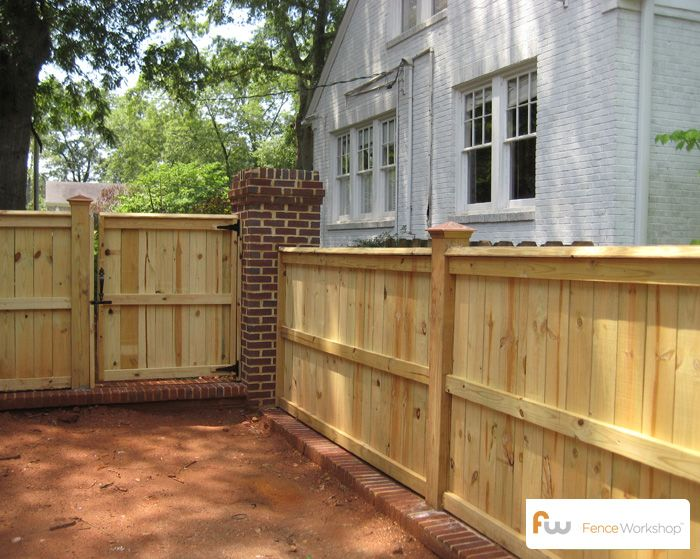The Glenwood Wood Privacy Fence Pictures Amp Per Foot