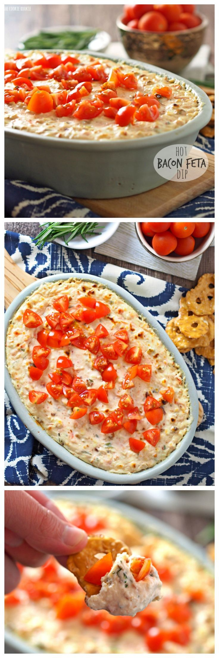 Hot Bacon Feta Dip   A great game day or holiday party appetizer!