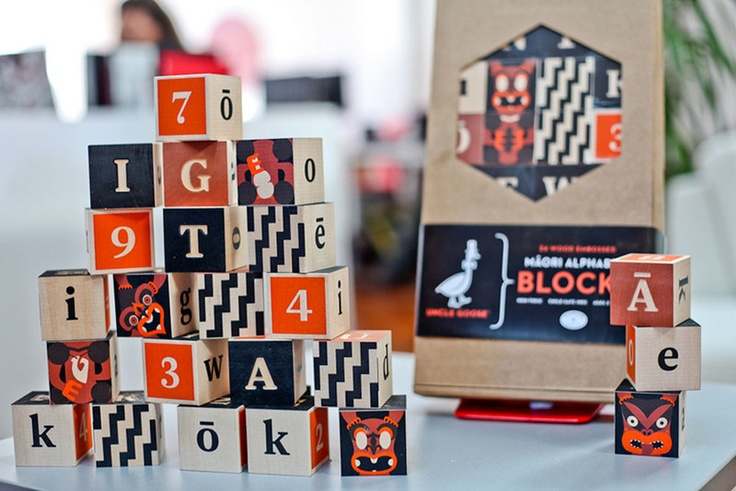 Incub8or : Maori Alphabet Blocks - Clever Bastards: The best of New Zealand art & design