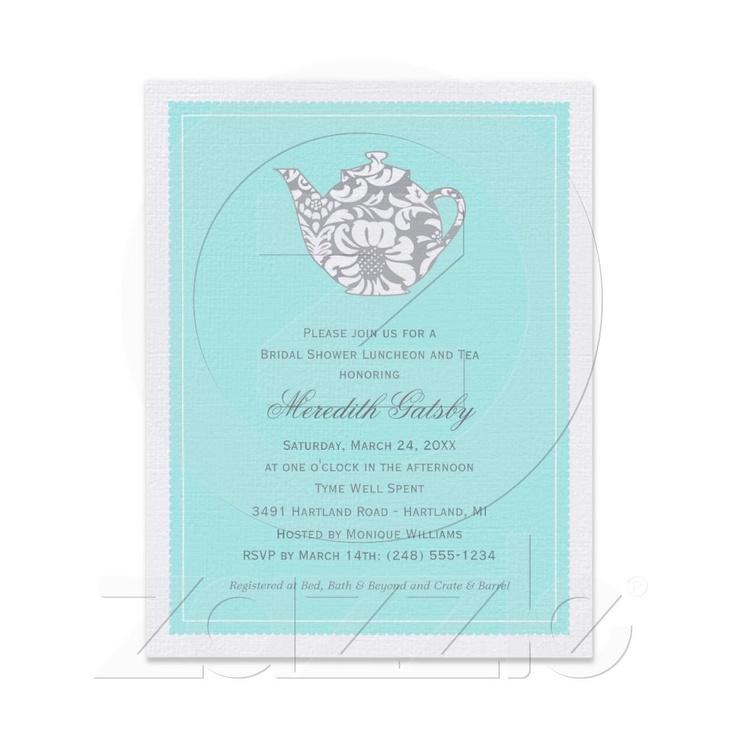 Wedding Bridal Shower Invitation | High Tea Theme from Zazzle.com