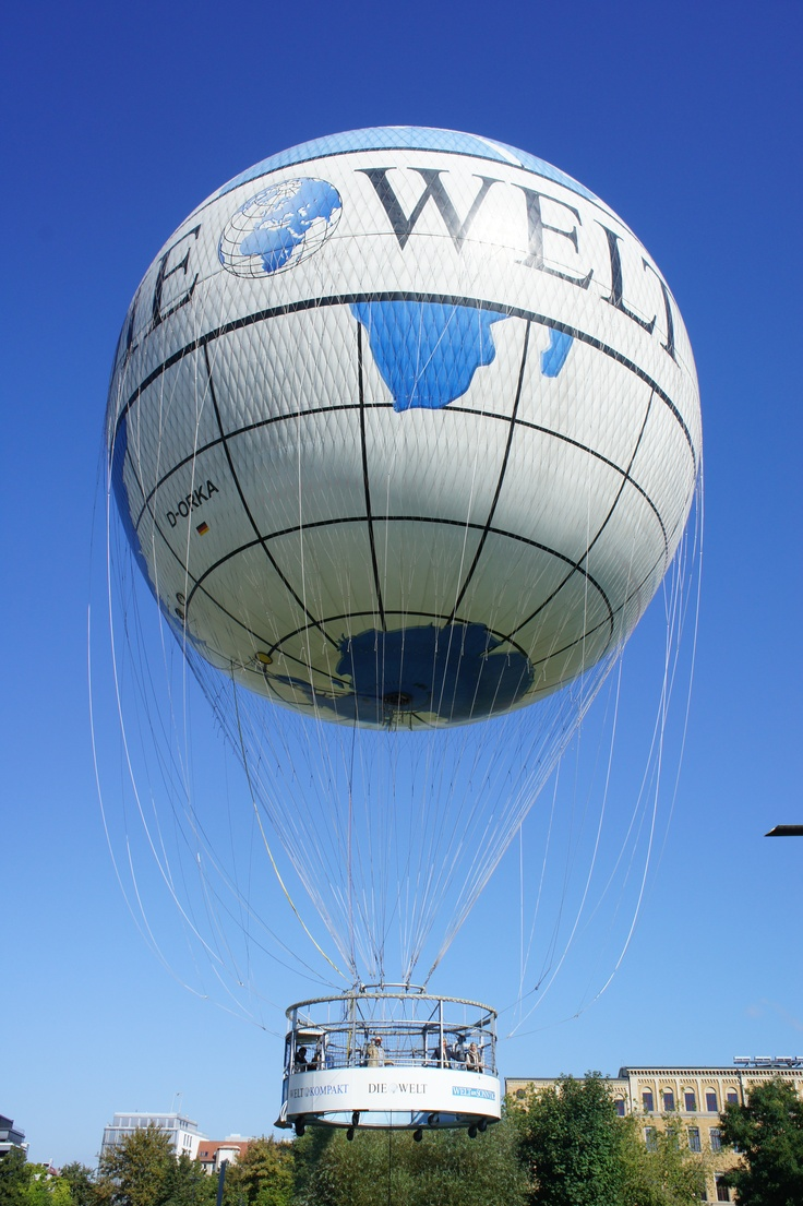 Die Welt Ballon, Berlin. And I went up on it too! Highly recommended