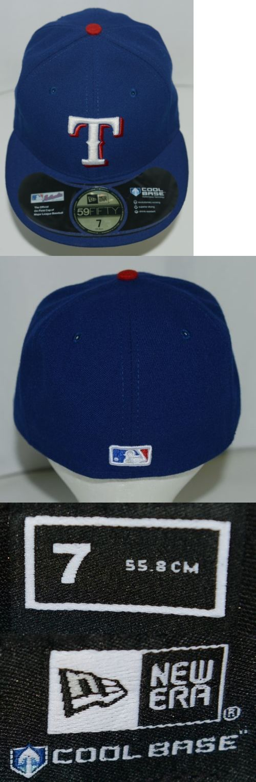 Hats and Headwear 159057: New Era Ca40289 Texas Rangers Authentic On Field Mlb Fitted Cap Blue Size 7 -> BUY IT NOW ONLY: $34.99 on eBay!