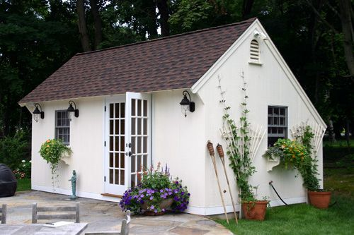 17 best images about garden shed on pinterest backyard for Carriage house shed