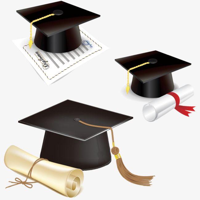 Dibujo a mano de dibujos animados,Gorro de graduación,Bachelor Cap,Certificado de graduación,Diploma,Borlas,Ribbon,Tirar licenciatura Cap