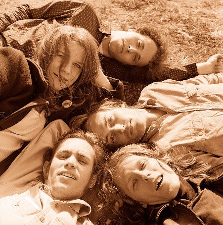 Big Brother and The Holding Company. Janis Joplin, Peter Albin, Sam Andrew, James Gurley, and Dave Getz.