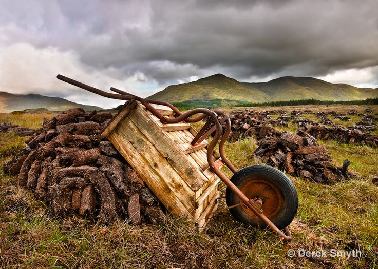 Drying The Peat - Galway, Ireland.