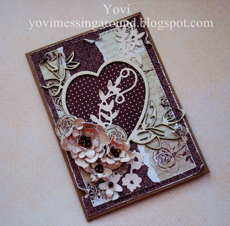 Wedding card , valentine's day card , handmade , scrapbooking , diy